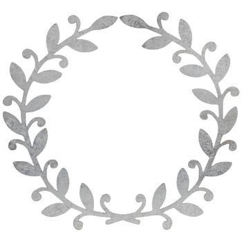 Galvanized Metal Wreath - Large