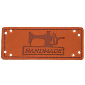 Light Brown Imitation Leather Handmade Labels