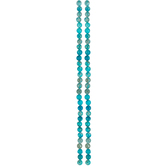 Turquoise Dyed Jasper Round Bead Strands