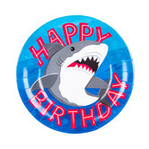 Shark Party Paper Plates - Small