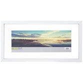 "White Float Wood Wall Frame - 16 1/2"" x 6"""