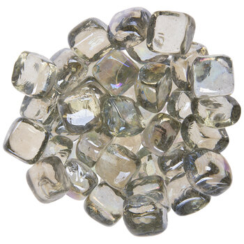 Iridescent Rectangle Glass Mosaic Gems
