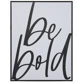 Be Bold Wood Wall Decor