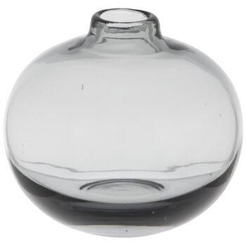Gray Round Glass Vase - Short