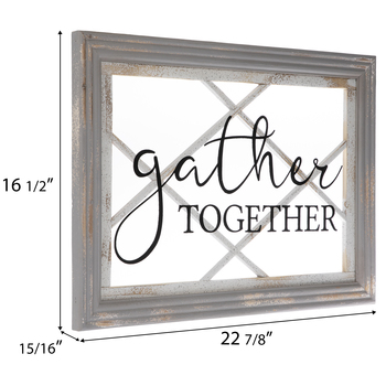 Gather Together Glass Wall Decor
