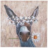 Cotton Crown Donkey Canvas Wall Decor