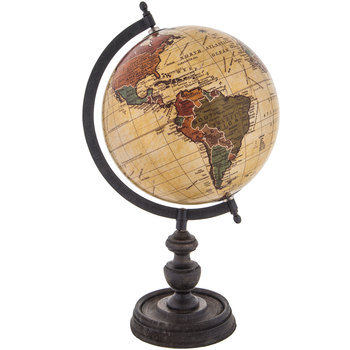 Beige Globe With Wood Stand