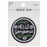 Hello Gorgeous Iron-On Applique
