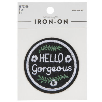 Hello Gorgeous Iron-On Applique