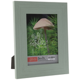 """Green Distressed Wood Look Frame - 5"""" x 7"""""""