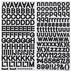 Black Dot Serif Alphabet Stickers