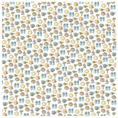 """Sketchy Beach Icons Scrapbook Paper - 12"""" x 12"""""""