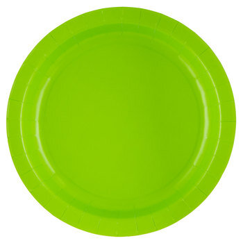 Lime Paper Plates - Large