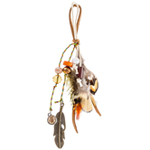 Earth Tone Feather Tassel