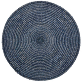 Blue Speckled Round Placemat