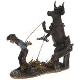 Cow Cowboy Hunting Human