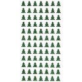 Green Christmas Tree Glitter Stickers