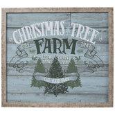 Christmas Tree Farm Wood Wall Decor
