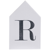 White & Black Letter House Wood Wall Decor - R