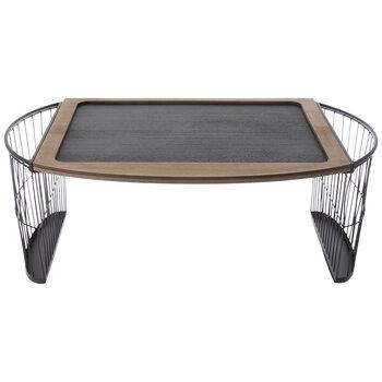 Natural & Black Wood Lap Desk