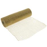 "Gold Metallic Deco Mesh Ribbon - 10"""