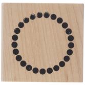 Dot Circle Border Rubber Stamp