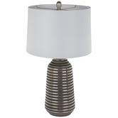 Silver Striped Lamp
