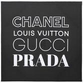 Designer Fashion Logos Canvas Wall Decor