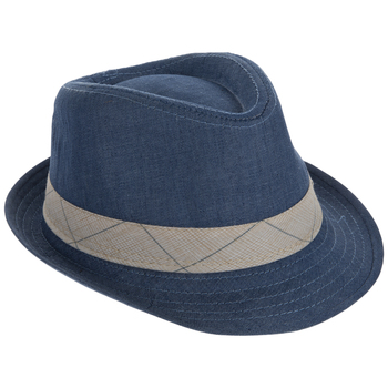 Denim & Beige Child Fedora