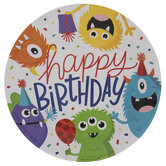 Monster Party Paper Plates - Large