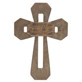 John 15:12 Cutout Wood Wall Cross