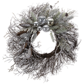 Twig, Pinecone & Ornament Wreath