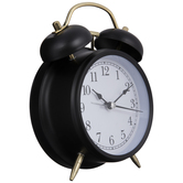 Black & Gold Metal Alarm Clock