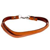 "Tan Leather Double Bracelet - 7 1/2"""