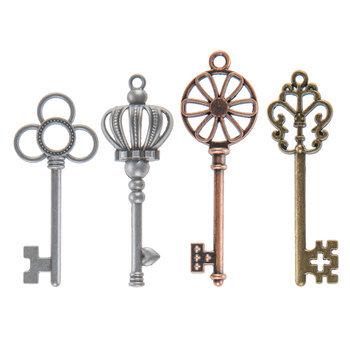 Ornate Key Charm Embellishments