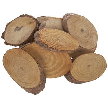 Wood Ovals With Bark
