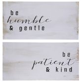 Be Humble & Gentle Wood Wall Decor Set