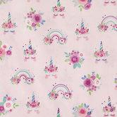 Rainbow Unicorn Cotton Fabric