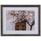 Cherry Blossom Doorway Framed Wood Wall Decor