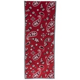 Red Bandana Paisley Table Runner