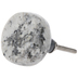 Gray & Black Round Marble Knob