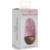 Pink Glitter Wireless Mouse