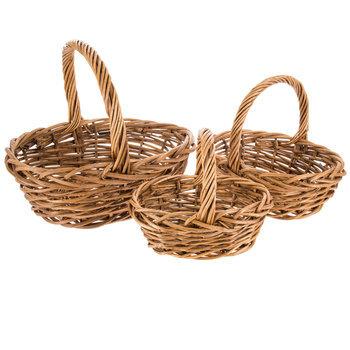 Dark Brown Oval Willow Basket Set