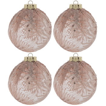 Light Pink Lace Ball Ornaments