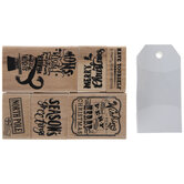 Season's Greetings Rubber Stamps & Tags