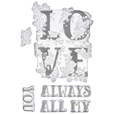 Love Block Clear Stamps
