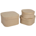 Paper Mache Rounded Square Boxes