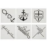 Faith Line Art Temporary Tattoos