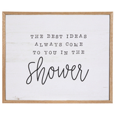 Ideas In The Shower Wood Wall Decor