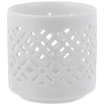 Geometric Cutout Candle Holder